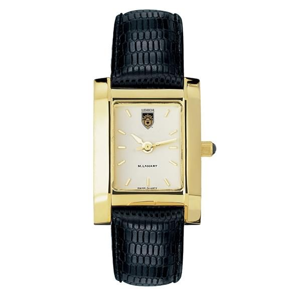 Lehigh Women's Gold Quad Watch with Leather Strap - Image 2