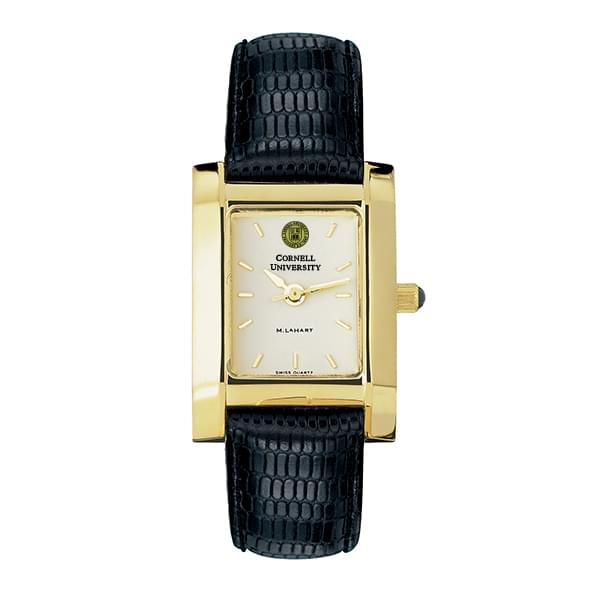 Cornell Women's Gold Quad Watch with Leather Strap - Image 2