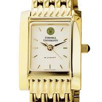 Cornell Women's Gold Quad Watch with Bracelet