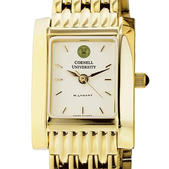 Cornell Women's Gold Quad Watch with Bracelet