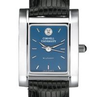 Cornell Women's Blue Quad Watch with Leather Strap