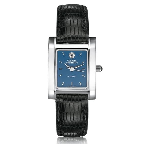 Cornell Women's Blue Quad Watch with Leather Strap - Image 2