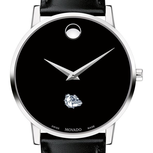 Gonzaga Men's Movado Museum with Leather Strap