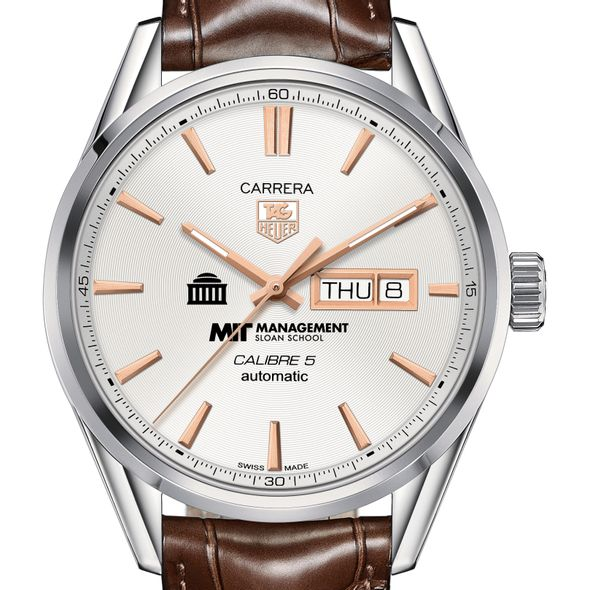 MIT Sloan Men's TAG Heuer Day/Date Carrera with Silver Dial & Strap - Image 1