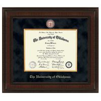 Oklahoma Excelsior Ph.D. Diploma Frame
