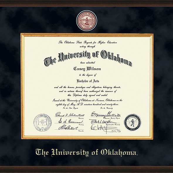 Oklahoma Excelsior Ph.D. Diploma Frame - Image 2