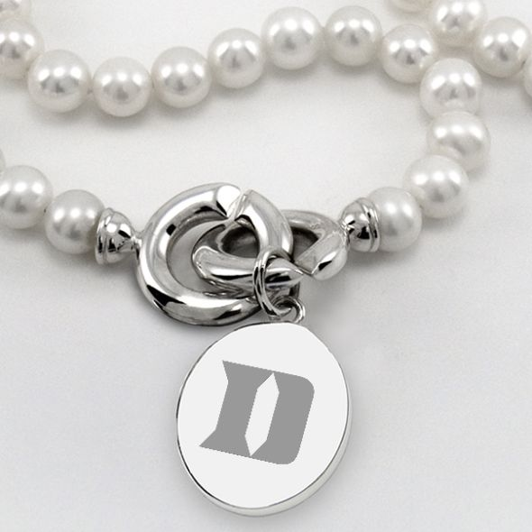 Duke Pearl Necklace with Sterling Silver Charm - Image 2