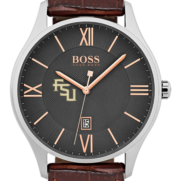 Florida State University Men's BOSS Classic with Leather Strap from M.LaHart