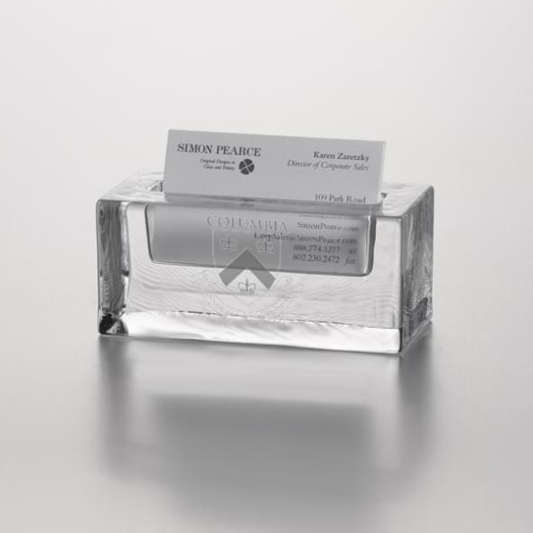 Columbia Glass Cardholder by Simon Pearce