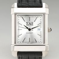 Sigma Alpha Epsilon Men's Collegiate Watch with Leather Strap