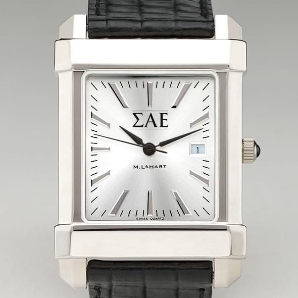 Sigma Alpha Epsilon Men's Collegiate Watch with Leather Strap