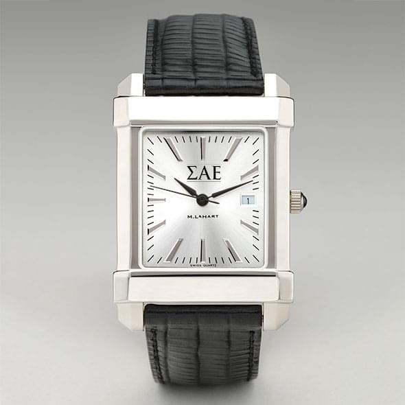 Sigma Alpha Epsilon Men's Collegiate Watch with Leather Strap - Image 2