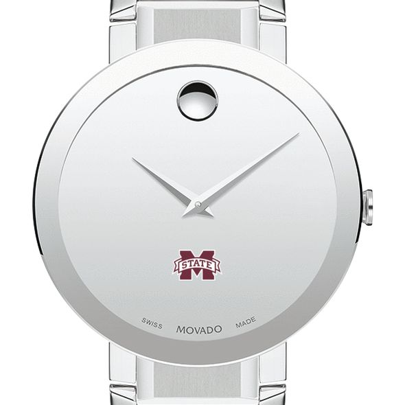Mississippi State Men's Movado Sapphire Museum with Bracelet