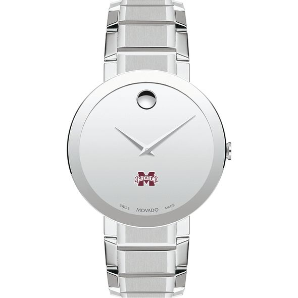 Mississippi State Men's Movado Sapphire Museum with Bracelet - Image 2