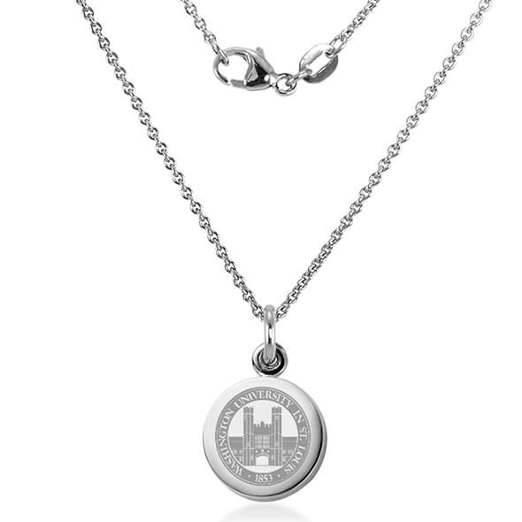 WashU Necklace with Charm in Sterling Silver - Image 2