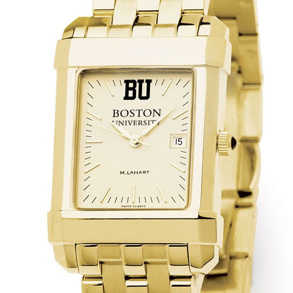 Boston University Men's Gold Quad with Bracelet
