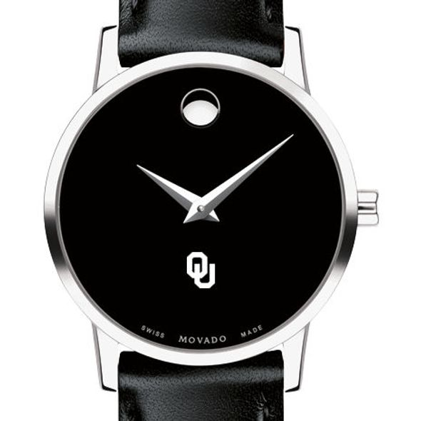 University of Oklahoma Women's Movado Museum with Leather Strap