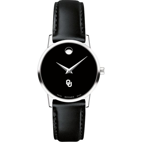 University of Oklahoma Women's Movado Museum with Leather Strap - Image 2