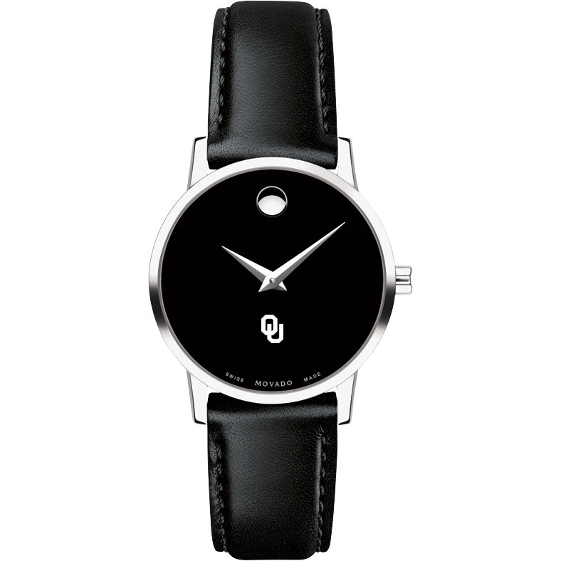 Oklahoma Women's Movado Museum with Leather Strap - Image 2