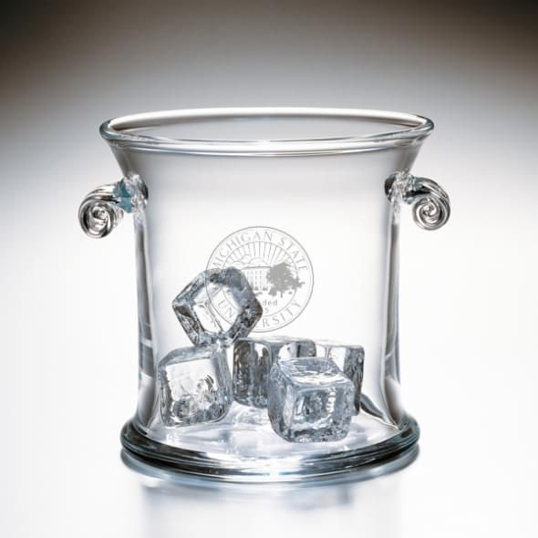Michigan State Glass Ice Bucket by Simon Pearce - Image 2