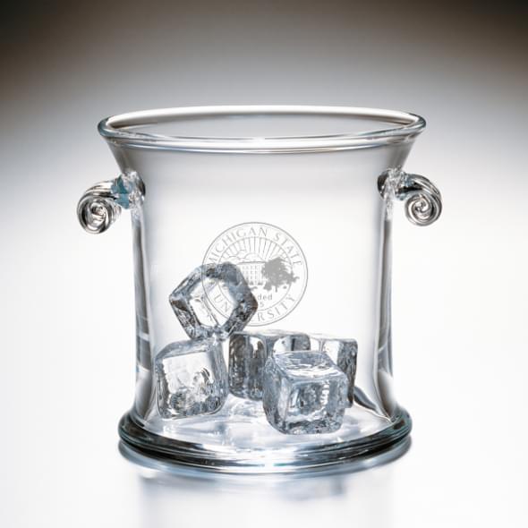 Michigan State Glass Ice Bucket by Simon Pearce - Image 2