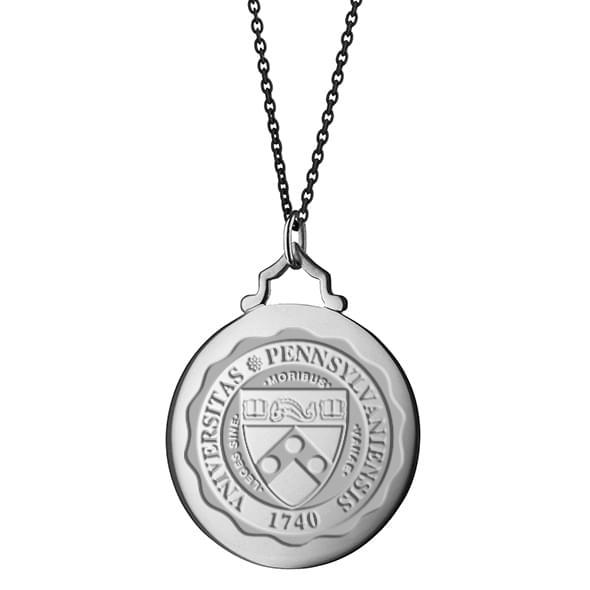 Penn Monica Rich Kosann Round Charm in Silver with Stone - Image 3