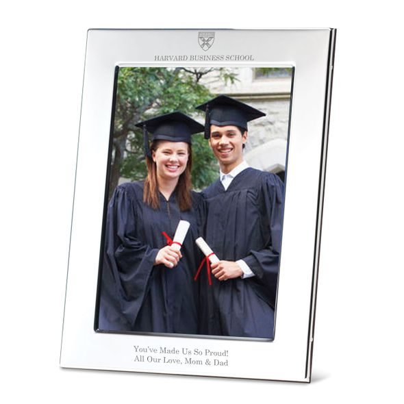 Harvard Business School Polished Pewter 5x7 Picture Frame