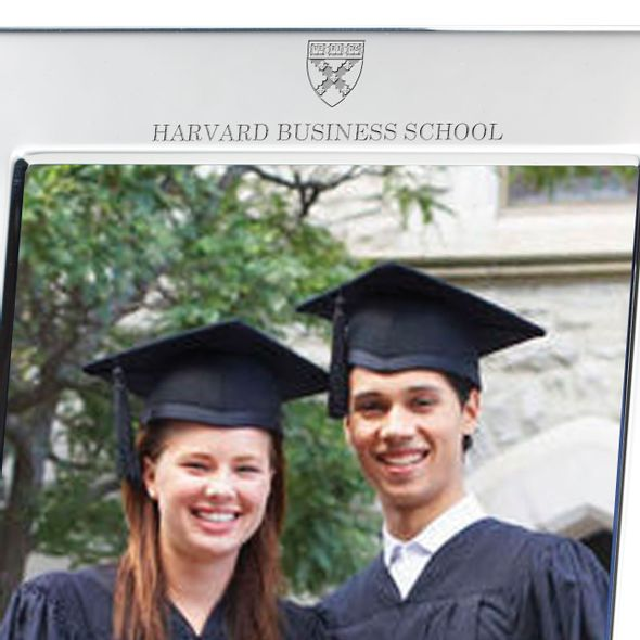 Harvard Business School Polished Pewter 5x7 Picture Frame - Image 2