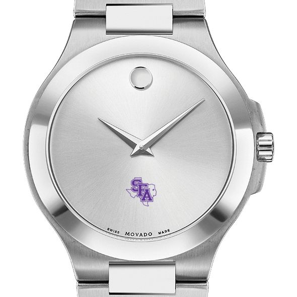 SFASU Men's Movado Collection Stainless Steel Watch with Silver Dial - Image 1