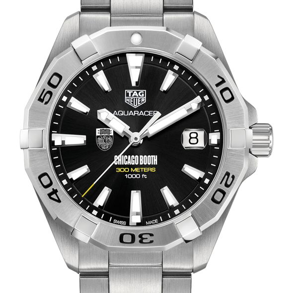 Chicago Booth Men's TAG Heuer Steel Aquaracer with Black Dial