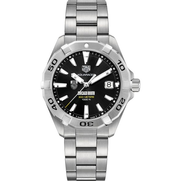 Chicago Booth Men's TAG Heuer Steel Aquaracer with Black Dial - Image 2