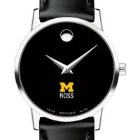 Michigan Ross Women's Movado Museum with Leather Strap