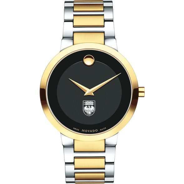 University of Chicago Men's Movado Two-Tone Modern Classic Museum with Bracelet - Image 2