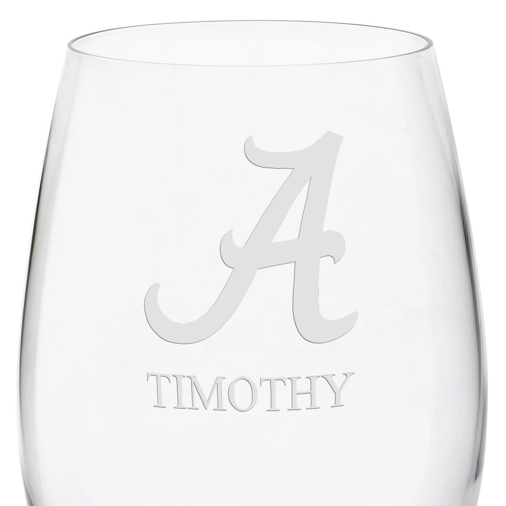 University of Alabama Red Wine Glasses - Set of 4 - Image 3
