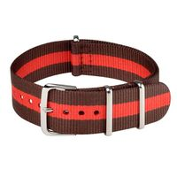 NATO STRAP BROWN & RED
