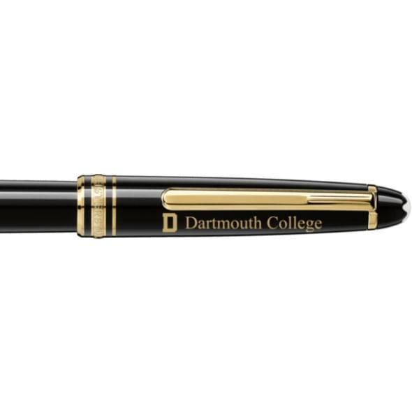 Dartmouth College Montblanc Meisterstück Classique Rollerball Pen in Gold - Image 2