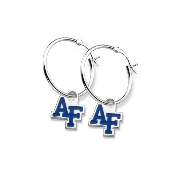 US Air Force Academy Sterling Silver Earrings - Image 1