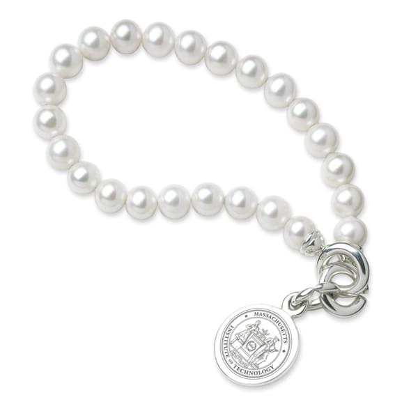MIT Pearl Bracelet with Sterling Charm