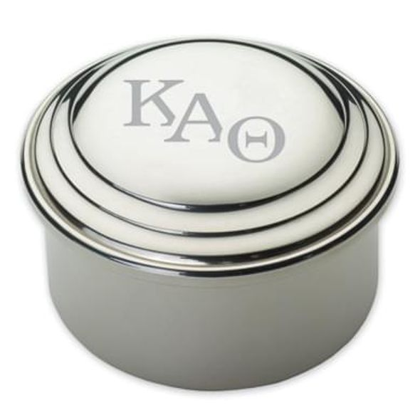 Kappa Alpha Theta Pewter Keepsake Box - Image 1