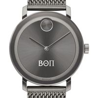 Beta Theta Pi Men's Movado BOLD Gunmetal Grey with Mesh Bracelet