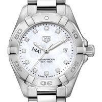Alpha Delta Pi Women's TAG Heuer Steel Aquaracer with MOP Diamond Dial