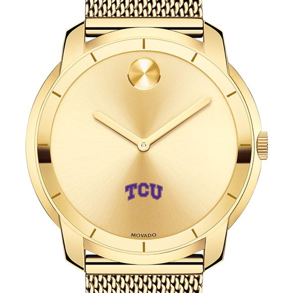 Texas Christian University Men's Movado Gold Bold 44