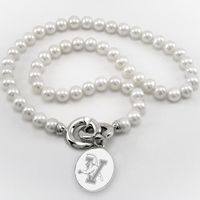 UVM Pearl Necklace with Sterling Silver Charm