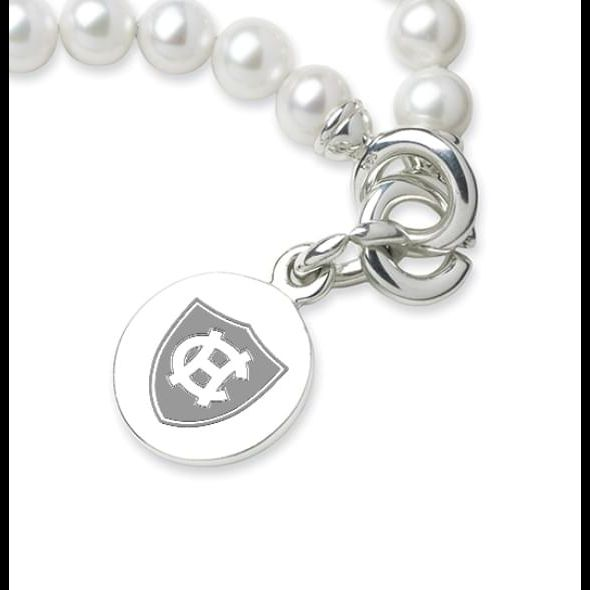 Holy Cross Pearl Bracelet with Sterling Silver Charm - Image 2
