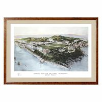 Historic US Military Academy Watercolor Print