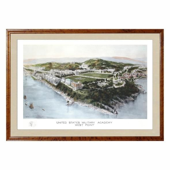 Historic US Military Academy Watercolor Print - Image 1