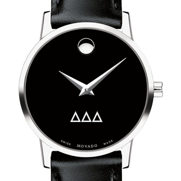 Delta Delta Delta Women's Movado Museum with Leather Strap - Image 1