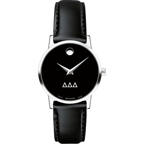 Delta Delta Delta Women's Movado Museum with Leather Strap - Image 2