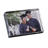 WUSTL Glass Photo Block by Simon Pearce