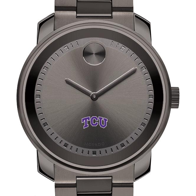 TCU Men's Movado BOLD Gunmetal Grey